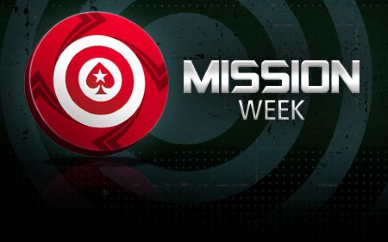 Mission week на PokerStars с призовым фондом $225,000