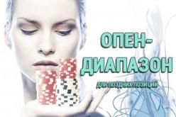 Опен-диапазон в покере для поздних позиций