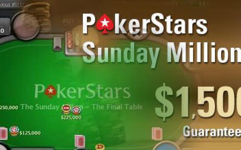 Sunday Million: $222 000 всего за 12 часов