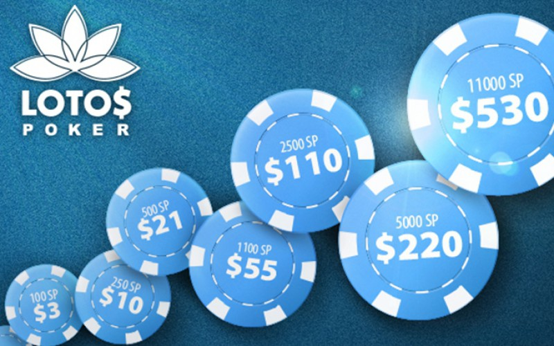 Бонусы от Lotos Poker на первый депозит