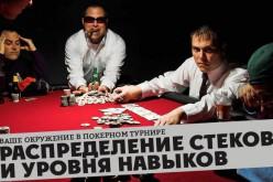 Ваше окружение в покерном турнире. Распределение стеков и уровня навыков. Часть 1