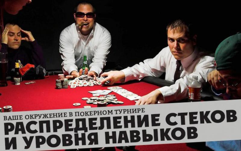 Ваше окружение в покерном турнире. Распределение стеков и уровня навыков. Часть 2
