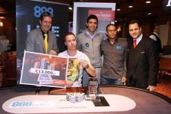Немец занёс первый живой турнир от 888Poker