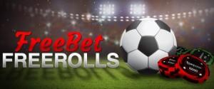 Freebet Freerolls. 25 топ-финалистов каждого фриролла выиграют часть от $350 для размещения бесплатных спортивных ставок. Всего проводится 4 турнира каждый месяц.