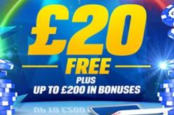 Бонусы Coral Poker: ?20 бесплатно в виде билетов на турниры + бонус на депозит до ?200