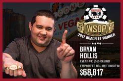 Первый браслет WSOP 2017 выиграл Брайан Холлис